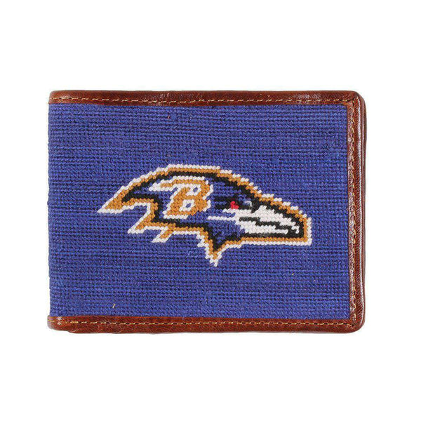 Wallets - Baltimore Ravens Needlepoint Wallet By Smathers & Branson