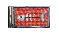 Wallets - Bonefish Needlepoint Money Clip By Smathers & Branson