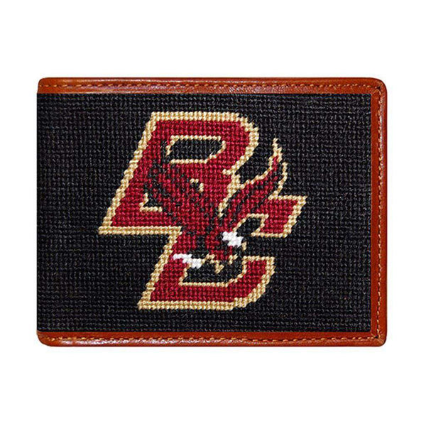 Boston College Needlepoint Wallet by Smathers & Branson