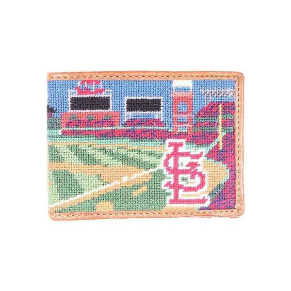 Wallets - Busch Stadium Scene Needlepoint Wallet By Smathers & Branson