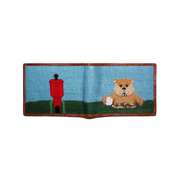 Wallets - Caddyshack Needlepoint Wallet In Blue By Smathers & Branson