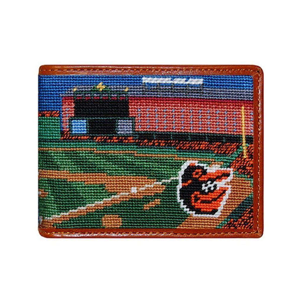 Wallets - Camden Yards Scene Needlepoint Wallet By Smathers & Branson