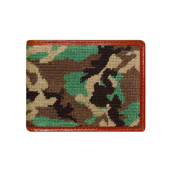Wallets - Camo Needlepoint Wallet By Smathers & Branson