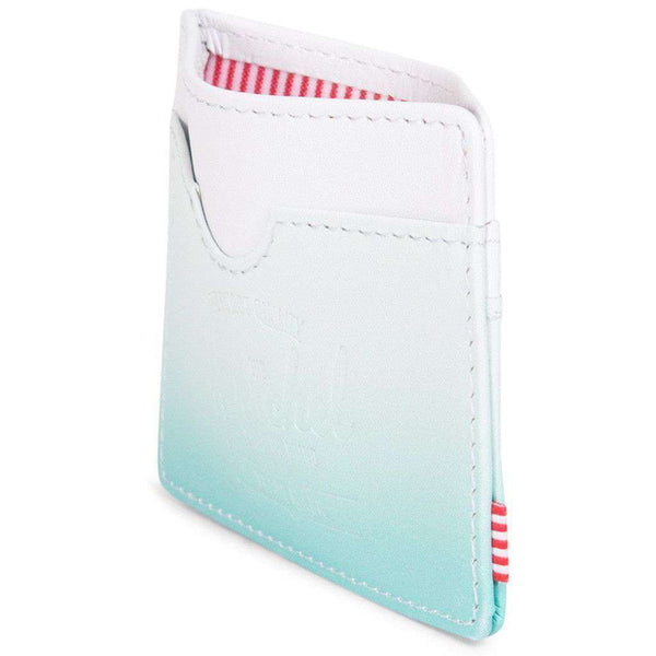 Charlie Wallet in White and Aqua Gradient Leather by Herschel Supply Co.