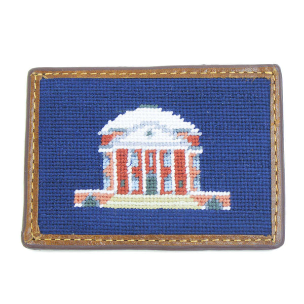 Charlottesville Rotunda Needlepoint Credit Card Wallet by Smathers & Branson
