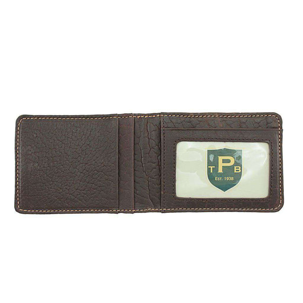 Wallets - Cheyenne Bifold Bison Pocket Wallet In Dark Briar By T.B. Phelps