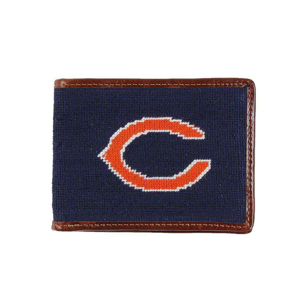 Wallets - Chicago Bears Needlepoint Wallet By Smathers & Branson