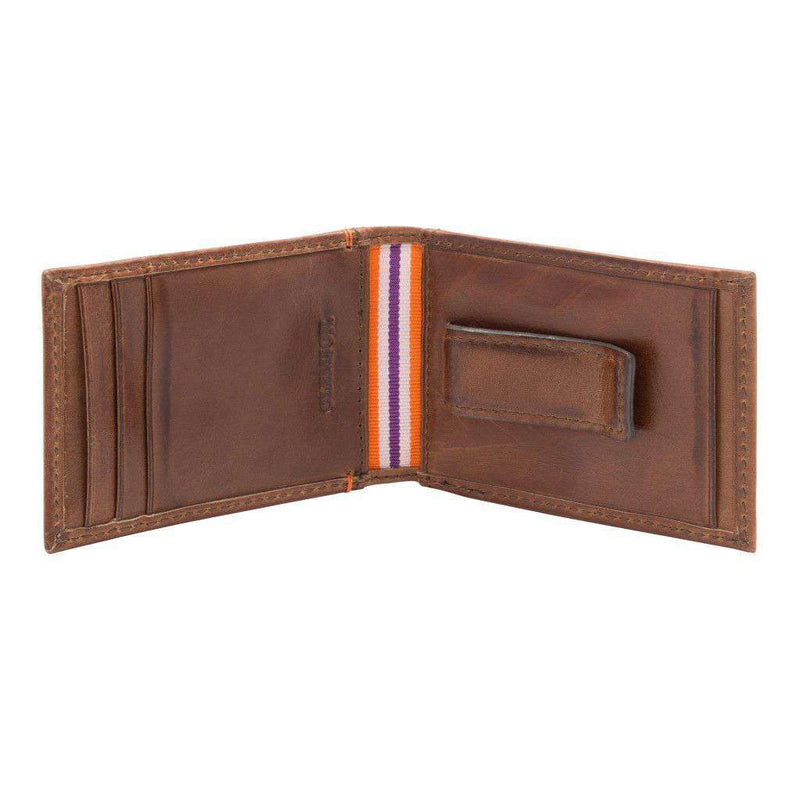Wallets - Clemson Tigers Campus Flip Bifold Front Pocket Wallet By Jack Mason