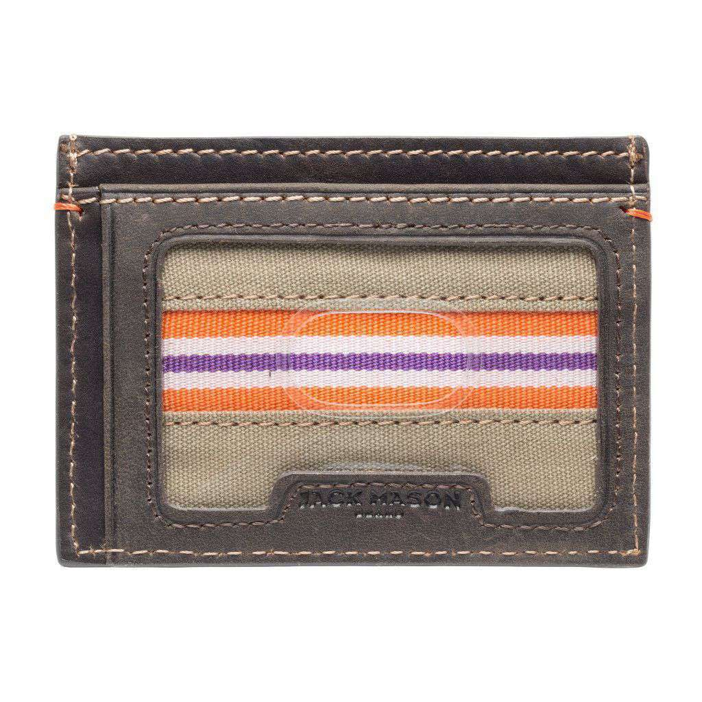 Wallets - Clemson Tigers Hangtime ID Window Card Case By Jack Mason