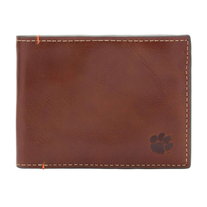 Wallets - Clemson Tigers Hangtime Slim Bifold Wallet By Jack Mason