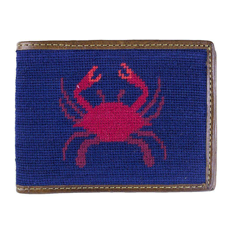 Wallets - Crab Needlepoint Wallet By Smathers & Branson