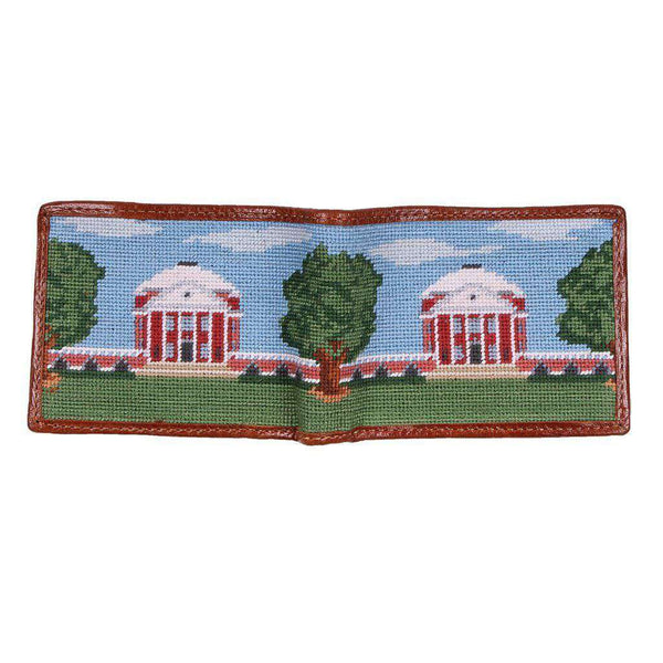 Wallets - Custom Rotunda Scene Needlepoint Wallet By Smathers & Branson