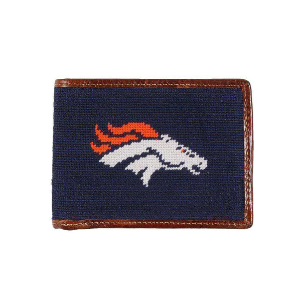 Wallets - Denver Broncos Needlepoint Wallet By Smathers & Branson