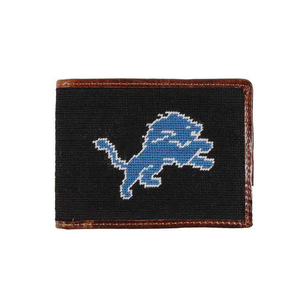 Wallets - Detroit Lions Needlepoint Wallet By Smathers & Branson