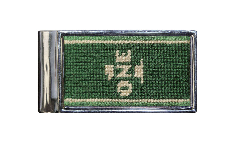 Wallets - Dollar Bill Needlepoint Money Clip By Smathers & Branson