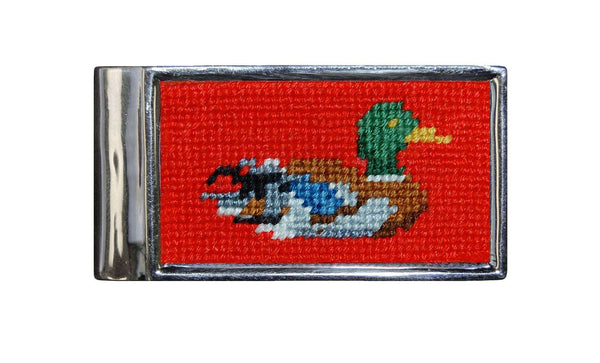 Duck Needlepoint Money Clip by Smathers & Branson