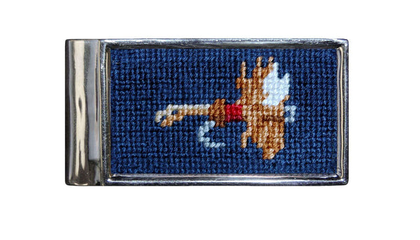 Wallets - Fishing Fly Needlepoint Money Clip By Smathers & Branson