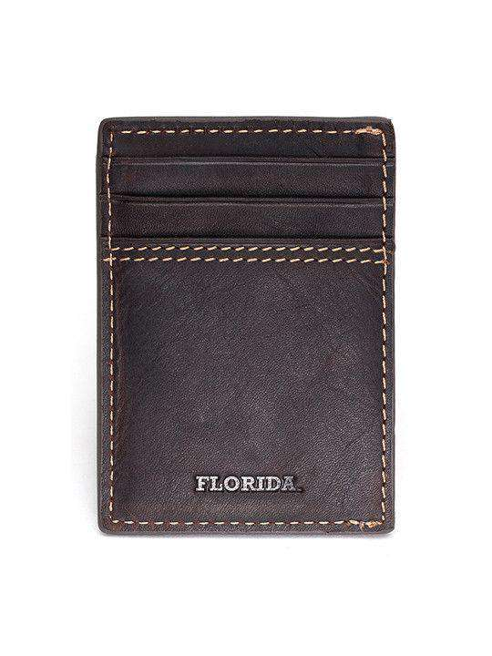 Wallets - Florida Gators Gridiron Mulitcard Front Pocket Wallet By Jack Mason