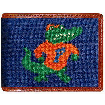 Wallets - Florida Gators Needlepoint Wallet In Blue By Smathers & Branson
