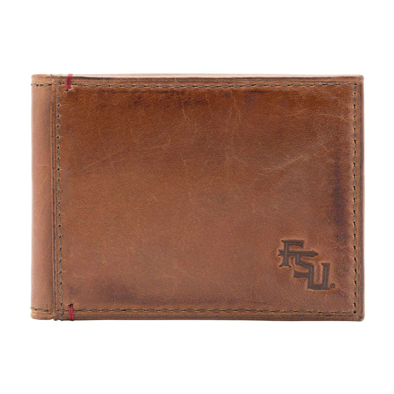 Wallets - Florida State Seminoles Campus Flip Bifold Front Pocket Wallet By Jack Mason