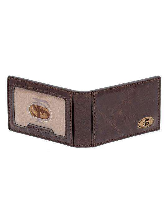 Wallets - Florida State Seminoles Legacy Flip Bifold Front Pocket Wallet By Jack Mason