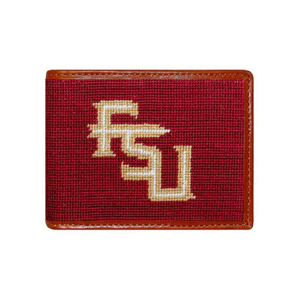 Florida State University Needlepoint Bi-Fold Wallet by Smathers & Branson