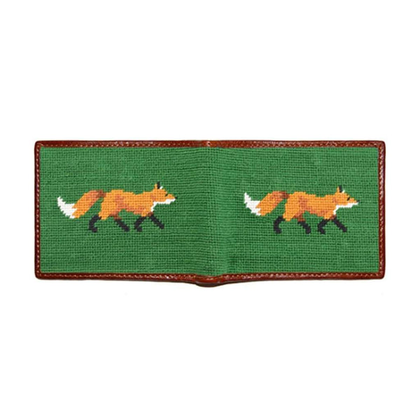 6045b8b833b Wallets - Fox Needlepoint Wallet In Dark Forest By Smathers   Branson ...