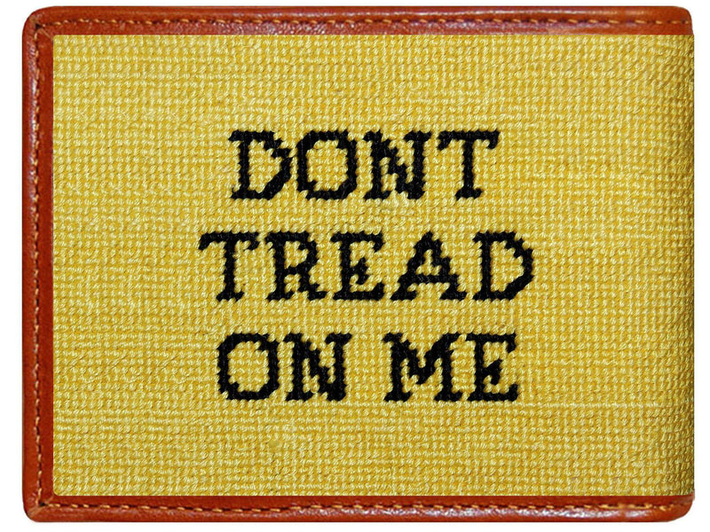 Wallets - Gadsden Flag Needlepoint Wallet In Yellow By Smathers & Branson
