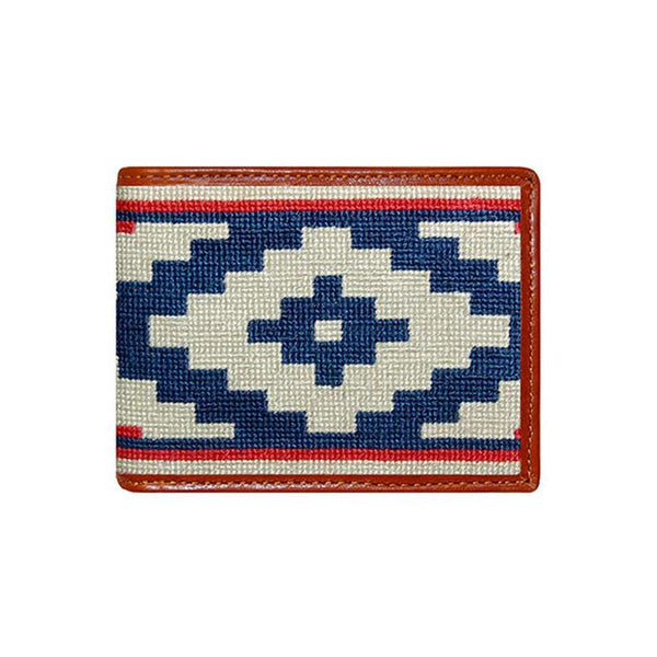 Wallets - Gaucho Rojo Needlepoint Wallet By Smathers & Branson
