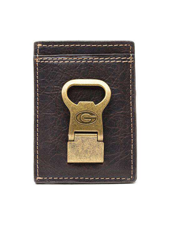 Wallets - Georgia Bulldogs Gridiron Mulitcard Front Pocket Wallet By Jack Mason