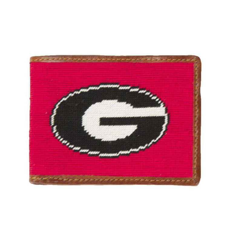 Georgia Needlepoint Wallet in Red by Smathers & Branson