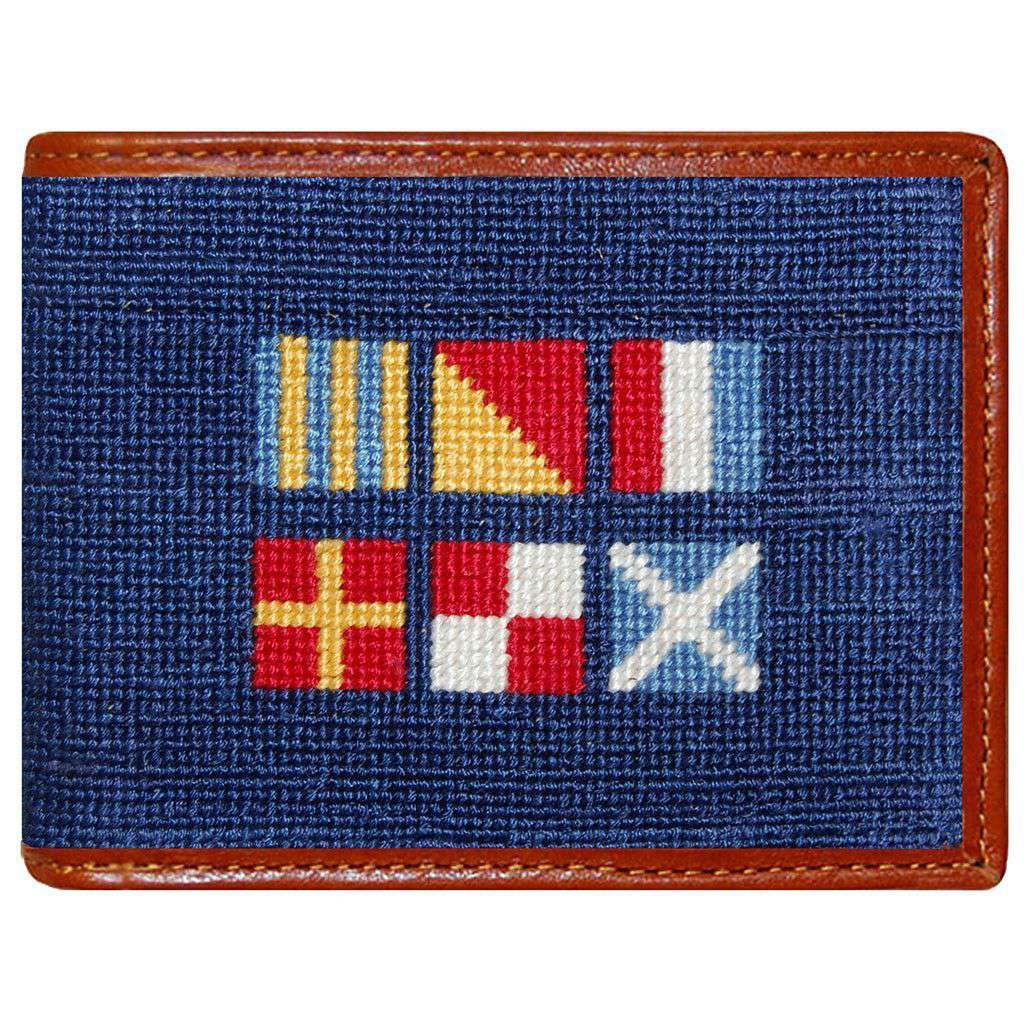 Smathers and Branson Got Rum Nautical Flag Needlepoint Wallet in ...