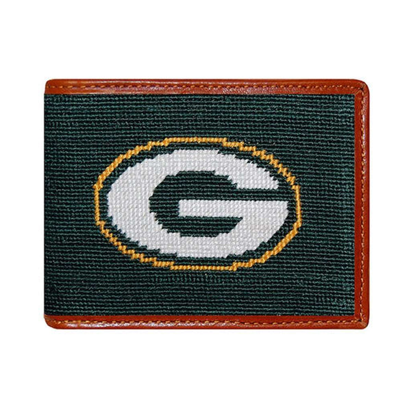 Green Bay Packers Needlepoint Wallet by Smathers & Branson