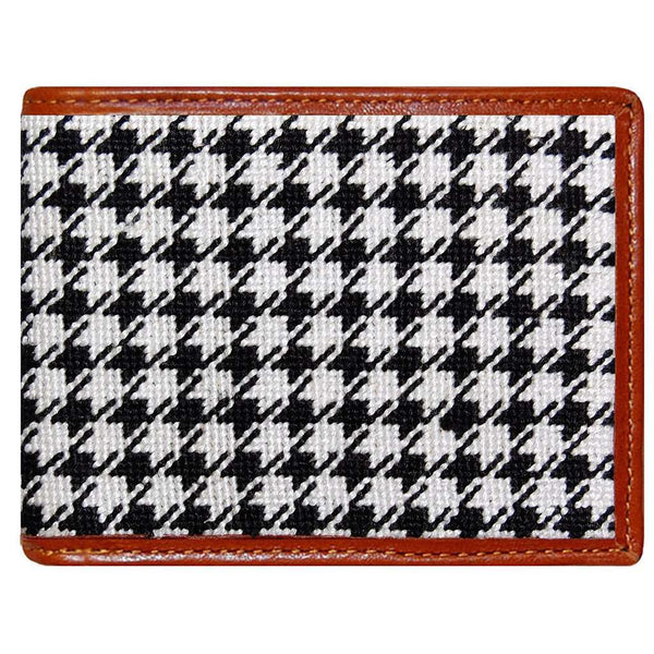 Wallets - Houndstooth Needlepoint Wallet By Smathers & Branson