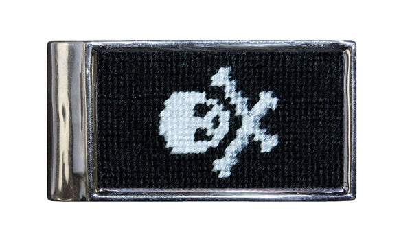Jolly Roger Needlepoint Money Clip by Smathers & Branson
