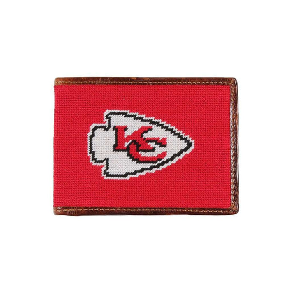 Wallets - Kansas Chiefs Needlepoint Wallet By Smathers & Branson