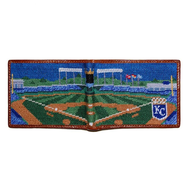 66829e3dedf Wallets - Kauffman Stadium Scene Needlepoint Wallet By Smathers   Branson  ...
