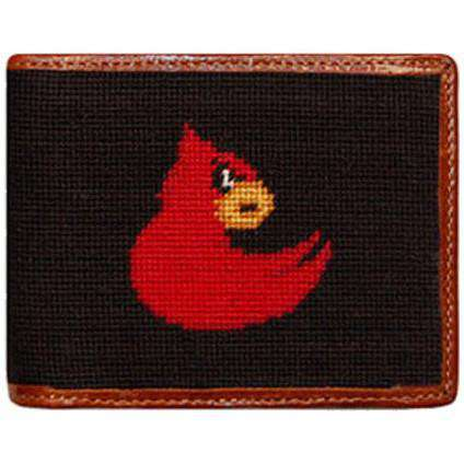 Wallets - Louisville Needlepoint Wallet In Black By Smathers & Branson