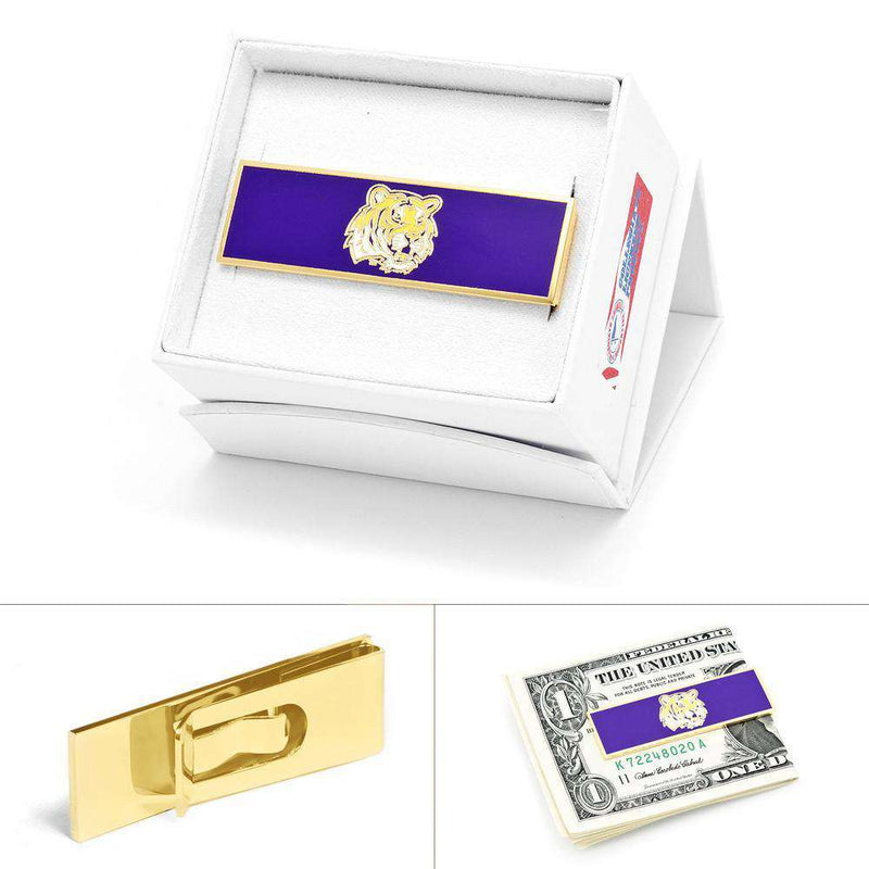 Wallets - LSU Tiger Money Clip In Gold By CufflinksInc