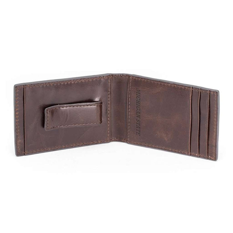 Michigan State Spartans Legacy Flip Bifold Front Pocket Wallet by Jack Mason - FINAL SALE
