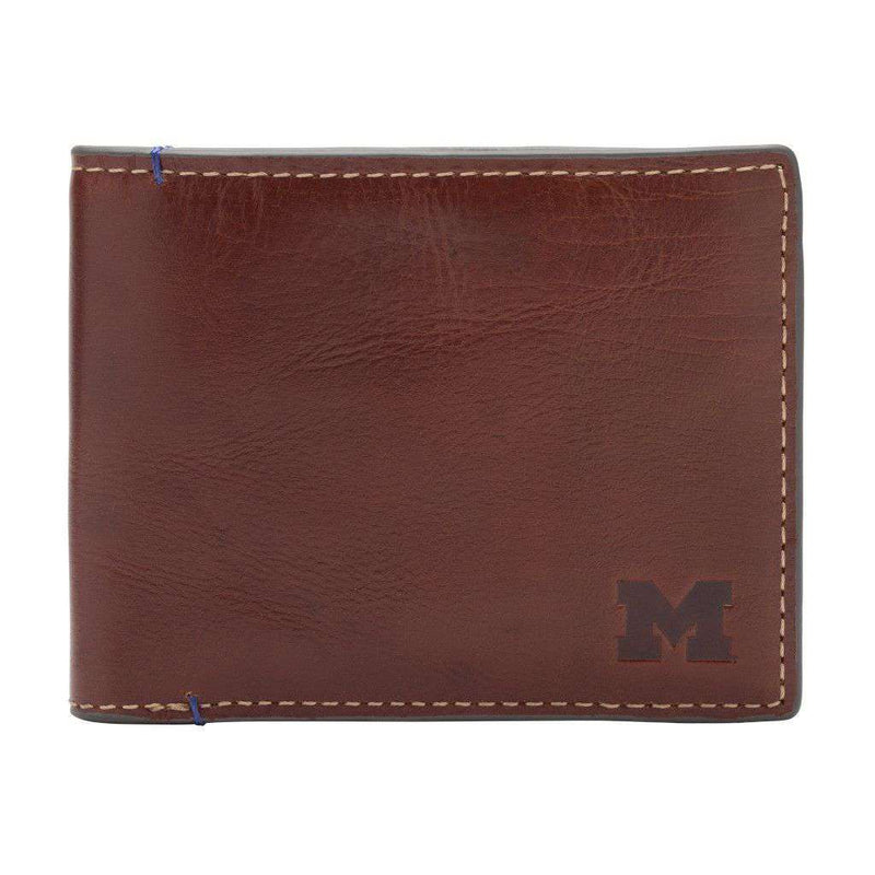 Wallets - Michigan Wolverines Hangtime Slim Bifold Wallet By Jack Mason