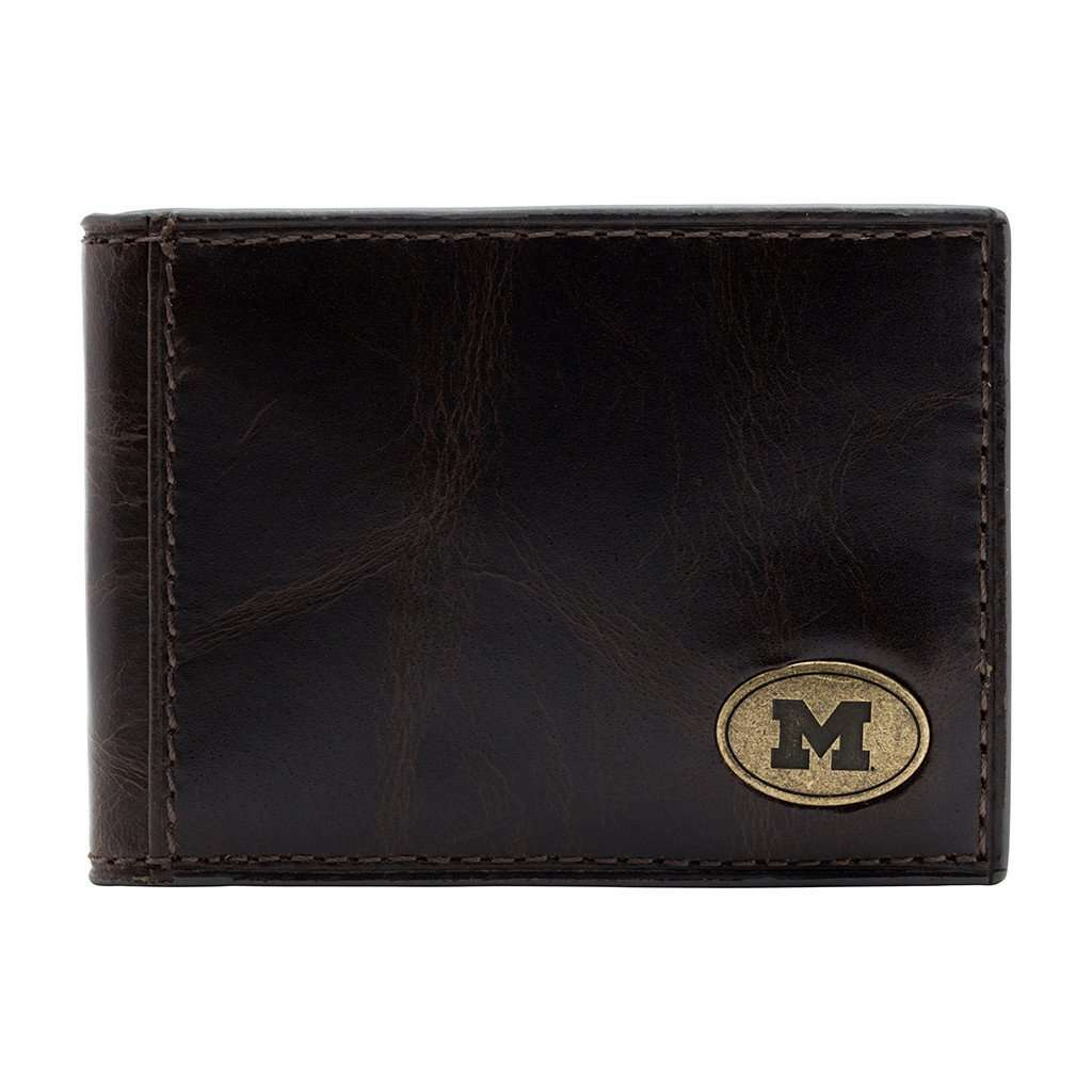 Wallets - Michigan Wolverines Legacy Flip Bifold Front Pocket Wallet By Jack Mason