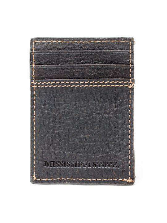 Wallets - Mississippi State Bulldogs Gridiron Mulitcard Front Pocket Wallet By Jack Mason