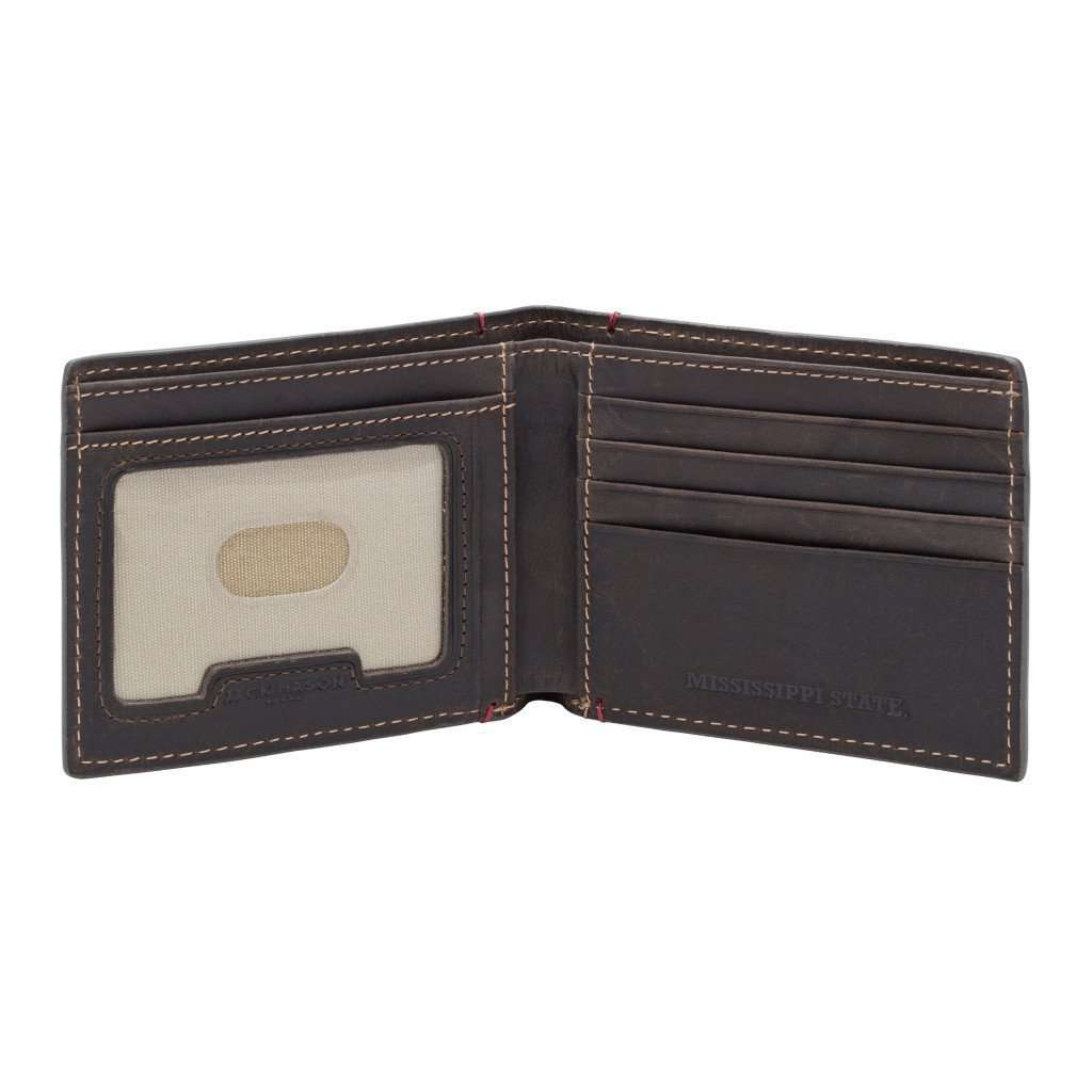 Wallets - Mississippi State Bulldogs Hangtime Slim Bifold Wallet By Jack Mason