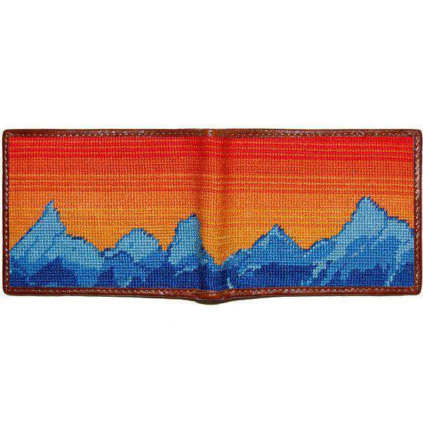 Mountain Sunset Needlepoint Bi-Fold Wallet by Smathers & Branson
