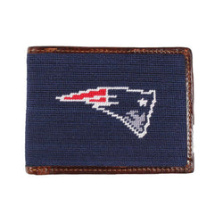 New England Patriots Needlepoint Wallet by Smathers & Branson