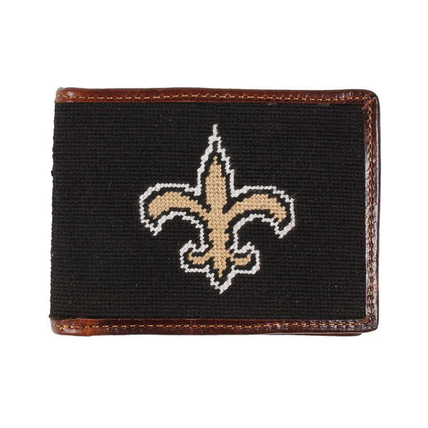 Wallets - New Orleans Saints Needlepoint Wallet By Smathers & Branson
