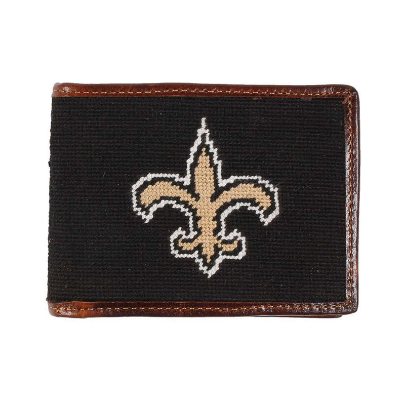 New Orleans Saints Needlepoint Wallet by Smathers & Branson