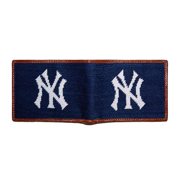 Wallets - New York Yankees Needlepoint Wallet By Smathers & Branson