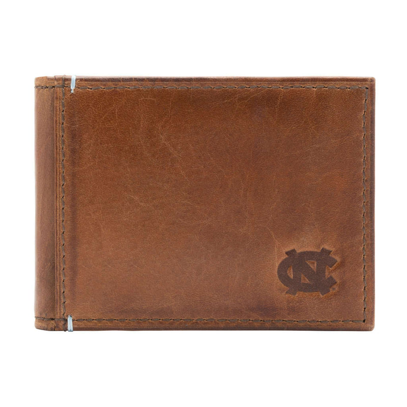 Wallets - North Carolina Tar Heels Campus Flip Bifold Front Pocket Wallet By Jack Mason